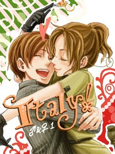 Italy and his other female self. So cute!