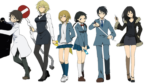 《无头骑士异闻录》 Gender bender:D Celty, Shinra, Shizu-chan, Kida Masaomi, Ryugamine Mikado, Anri Sunohara, and Izaya<3~!!!!!!!!!!!!