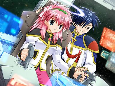 Milfeulle Sakuraba and Takuto Meyers from Galaxy Angel :)