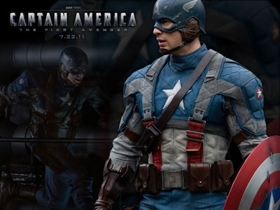 """Captain America: The First Avenger द्वारा the way, I'm really pissed that the शीर्षक of the movie had to be trimmed down to just """"The First Avenger"""" in some countries (at least that's what I heard in a news रिपोर्ट from Fox). If आप ask me, I think that if they can't दिखाना the movie without shortening the title, they shouldn't दिखाना the movie at all."""