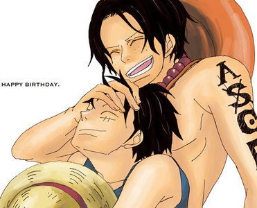 Ace and Luffy.