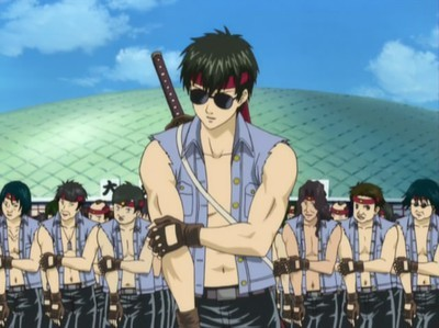 """Hijikata atau """"Toshi"""" when he was possessed sejak an otaku spirit :)"""