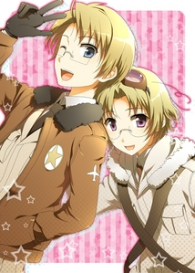 America and his brother Canada! (hetalia) aww, Canada is so cute! ^.^ I'm surprised that many people don't know who Canada is! he's America's shyer and younger brother!
