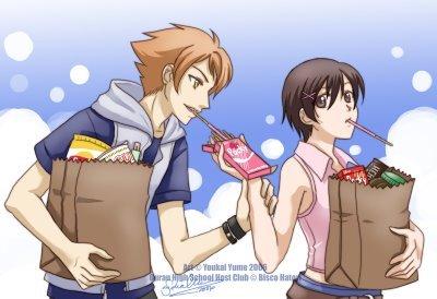 Kaoru and Haruhi from OHSHC.