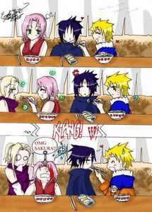 Naruto eating ramen… with Sasuke… yeah XD