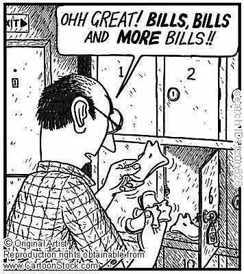 paying bills :b