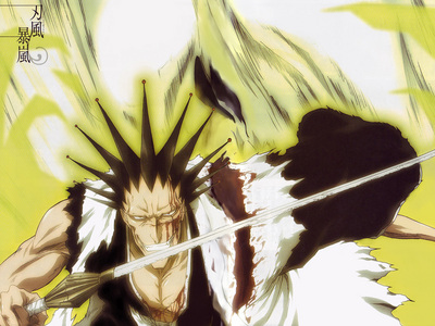 Kenpachi from Bleach.. (it didn't affect him at all..) X3
