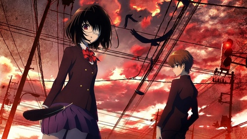Another (just came out this year, still ongoing) Ghost Hunt (investigation of paranormal cases) Kaidan Restaurant (kiddie stuff) Shinrei Tantei Yakumo (paranormal investigation again) Hell Girl (of course, how could I forget?) and Shiki (its quite similar to Higurashi though so if you're not yet ready...)