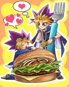 Yugi's true love: Burgers