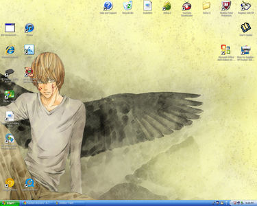 I change mine...a lot. X3 Here's my current one ^-^ (my screen is huge so the pic is small...^^')