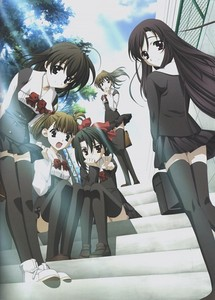 "School Days. Ignore this ""cute girls"". Thay aren't like they look."
