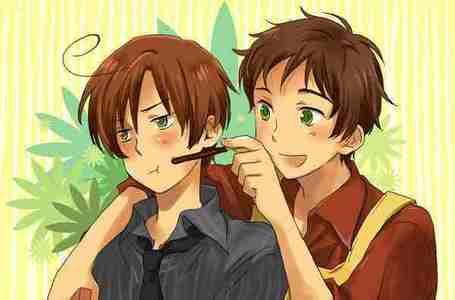 Spanamo...i just luv hetalia!!! But almost all of the boys are cute!!!!