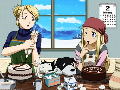 Winry and Risa of FMA :)