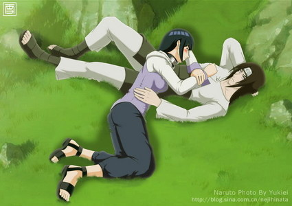 neji and hinata from 火影忍者 shippuden