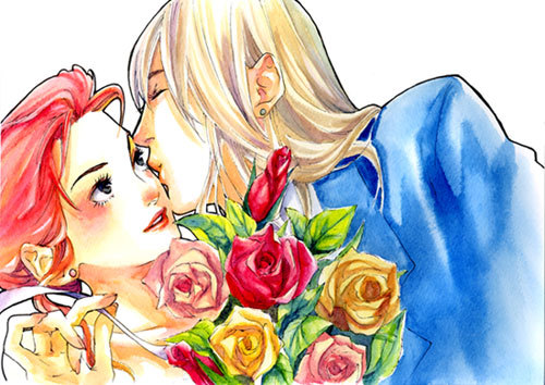 Howl and Sophie Jenkins from 'Howl's Moving Castle', an amazing novel 由 Diana Wynne Jones (R.I.P) and adapted 由 Hayao Miyazaki~ This is Howl and Sophie from Diana Wynne Jones' (R.I.P) novel; not the movie.