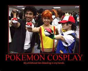 i just found it on bing so i hope this is good thay are cosplaying as 3 pokémon ppl.