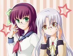Nakamura Yuri and Tachibana Kanade from Angel Beats