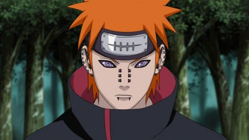 Deva Path of Pain(Yahiko) from Naruto.All Six Paths has 橙子, 橙色 hair but I'm positing just one of tham! <3