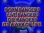 Supporting my football team : Rangers FC Theyre going through bad times with administration at the moment.:'( RANGERS TILL I DIE!