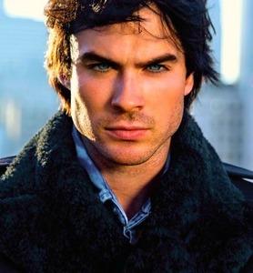 Dark Brown eyes and Brilliant Blue eyes (like Ian's)