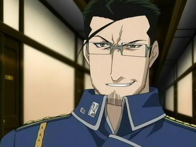 Okay. I do not wanna do the same ole pics, (even though I have a super good one of 卡卡西 smiling where 你 can see his whole face)...but I think he's cool & kinda 'a little hunky in his own way. I like the grin. ;) Maes Hughes -Fullmetal Alchemist