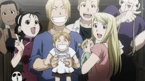 well i was thinking of posting ed, al, their mother and hohenheim. but i think i'll post ed and winry's family instead.