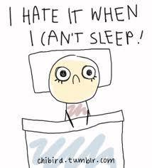 That i wont't fall asleep ._.