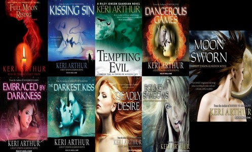 The Riley Jenson guardian series by Keri Arthur. Its a great set a books and there's 9 of them so you know lots of stuff happens in them.