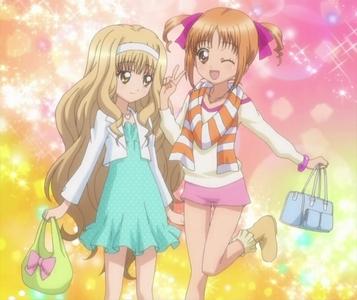rima and yuiki from shugo chara