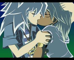 Thiefshipping <3 Bakura (the seme) and Marik (the uke) from Yu-Gi-Oh