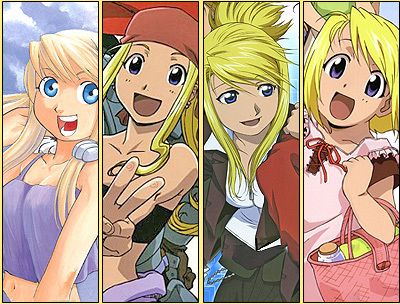 Winry Rockbell from Fullmetal Alchemist,she's the cutest to me atleast