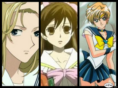 I am a Aquarius and my characters are: Arisa from fruits basket, Haruhi fujioka, and Sailor uranus!!! :D