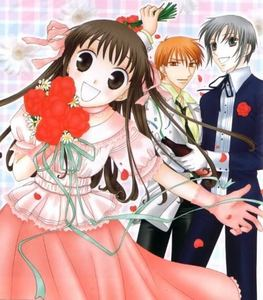 Tohru Honda from Fruits Basket, she worries about other people too much and is a bit of a push-over and doesn't seem to have a very good self image. Possibly not my kegemaran Anime girl but I can't remember any others right now