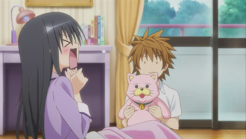 Yui from To love Ru has a room full of cat things :3