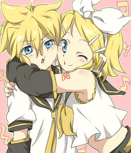 My 最喜爱的 color: Yellow. Kagamine Rin& Ren on the picture. So cutee.
