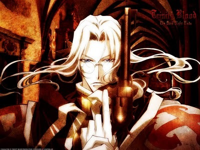 Trinity Blood: Able Nightroad  I have alot a cool pics of him it was hard deciding which to use, hope this satisfactory :)