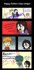 Since its so small and blurry I put the link to it. http://fc05.deviantart.net/fs49/f/2009/234/4/5/Happy_Father__s_Day__Ichigo_by_Maika_Isabel.jpg How would she know what face his hollow had when that happened?