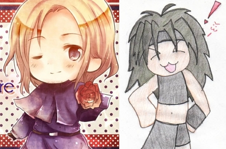 I can't choose between hetalia and FMAB!!! So here are my two cutie pies. <33
