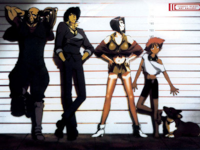 Trinity Blood Ghost in the Shell Cowboy Bebop デュラララ!! Full Metal Alchemist Samuria Champloo Code Geass Loveless Blood + (image from Cowboy Bebop!)