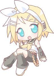 well rin is totally cute even though shes not from a show...