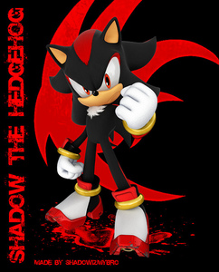 Sonic the Headgehog (Yes, I know that the picture has Shadow in it)