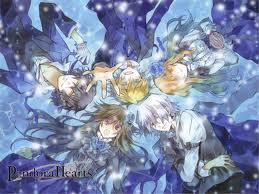 Pandora Hearts. It has Sharon, Oz, Alice, Gil and Break. I think it's pretty awesome