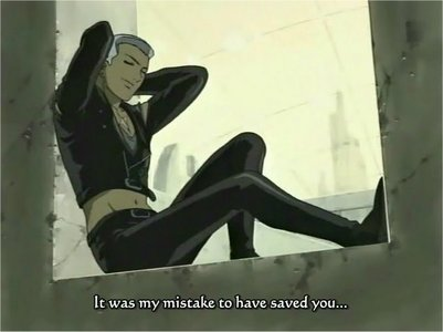 Mine would be Tsume from wolf's rain hes HOT and his personality is too COOL for his own good! XD