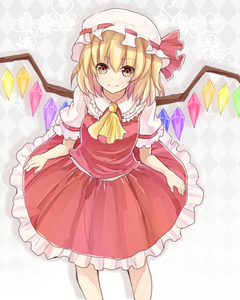 Try drawing Flandre Scarlet from Touhou Project. (She's not really from an Anime but I've been obsessed with her lately).