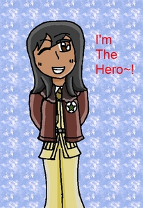 A picture of me dressed as America from Hetalia.