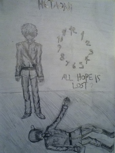 It is based on Hetaoni an RPG which is based on ヘタリア and it is a crappy quality picture taken with my ipodの, ipod in a kinda dark room...