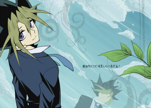 I remember having the biggest crush on yugi as a little girl... this picture is not helping me at all