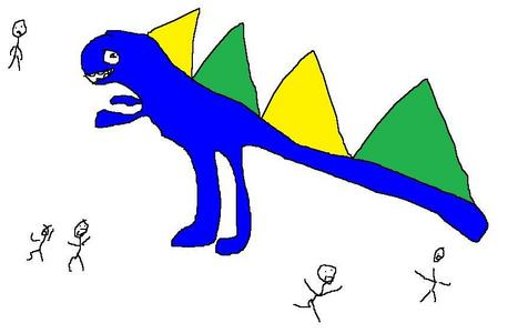 I can only draw 공룡 on paint.