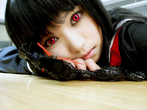 This Enma Ai cosplay is awesome!!!!!! I 愛 it!!! I also 愛 Ai!!!