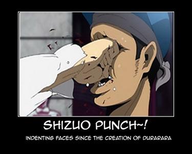 Shizuo punching a gang member XD